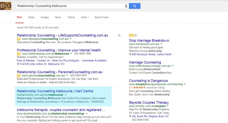 #1 for Relationship Counselling Melbourne