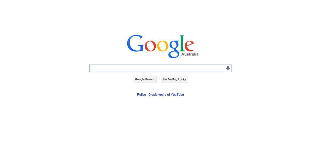 Google Home page Negative Space