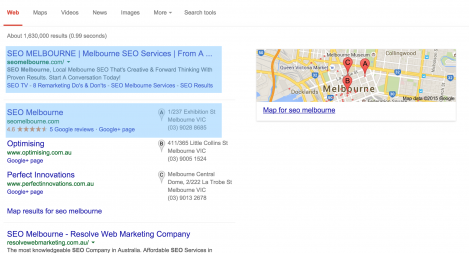 #1 for SEO Melbourne