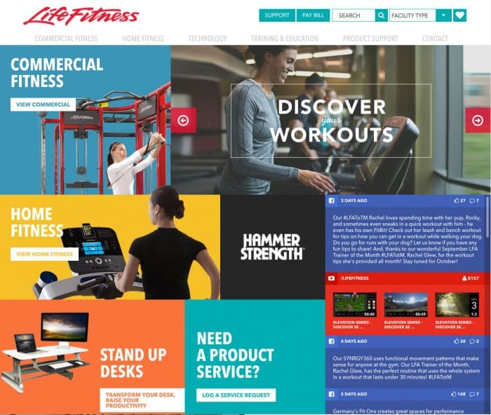 life-fitness-web-design
