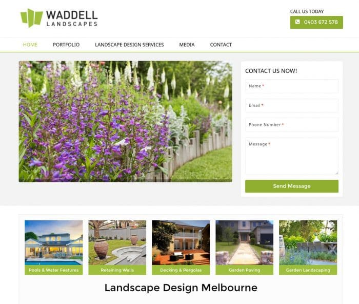 waddell-landscapes- SEO Company-website-design