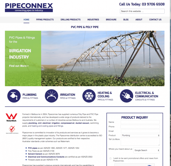 PVC PIPE SEO Company Website Design & Development