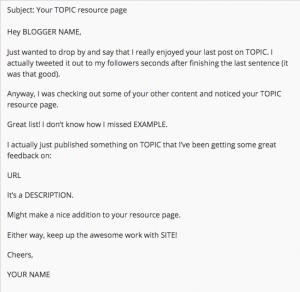 SEO Company Digital PR Melbourne Blogger Email Example