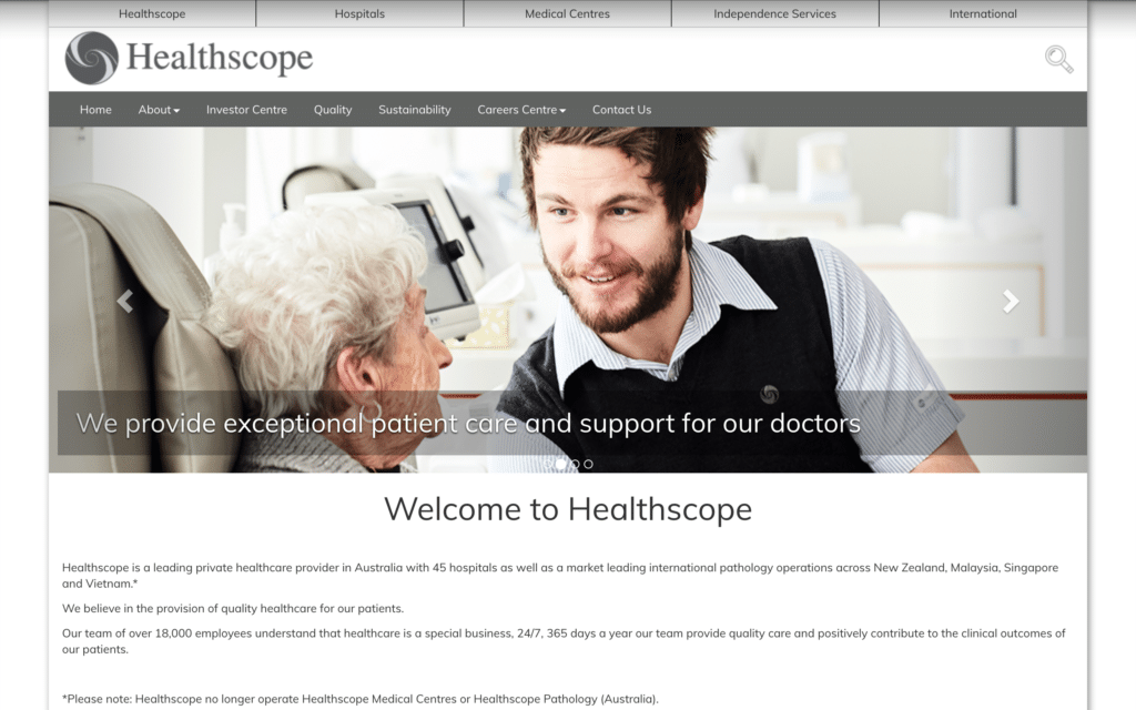 HealthScope Case Study - Website results - SEO Melbourne