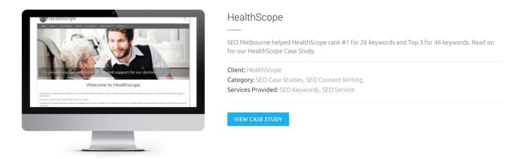 SEO Copywriting Healthscope Melbourne