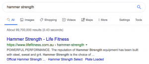 Life Fitness Case Study - SERP - SEO Melbourne