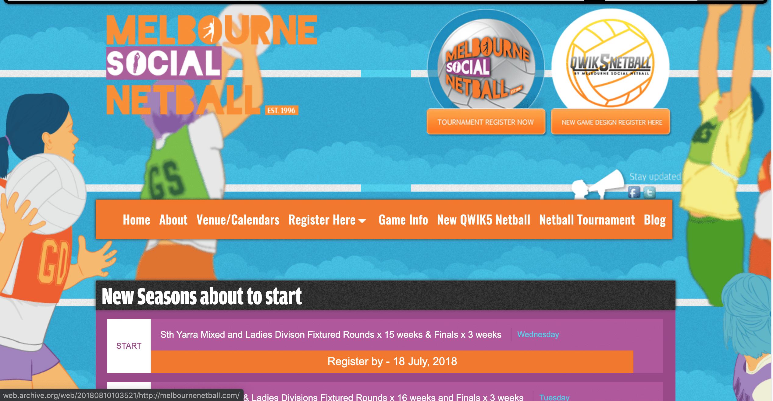 Melbourne Social Netball - Case Study - Agency SEO Melbourne